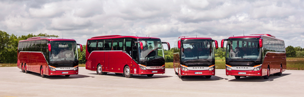 Setra presenterade på tisdagen fyra nya modeller i sin ComfortClass-serie. Samtliga bilder: Daimler Buses.