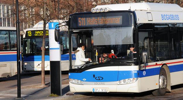 Bussen dominerar svensk kollektivtrafik. 52 procent av resorna i kollektivtrafiken görs med buss, enligt Trafikanalys. Foto: Ulo Maasing.