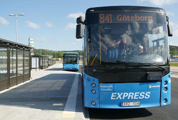 Nu öppnar Västtrafiks nya bussterminal i Torp utanför Uddevalla. Foto: Västtrafik.