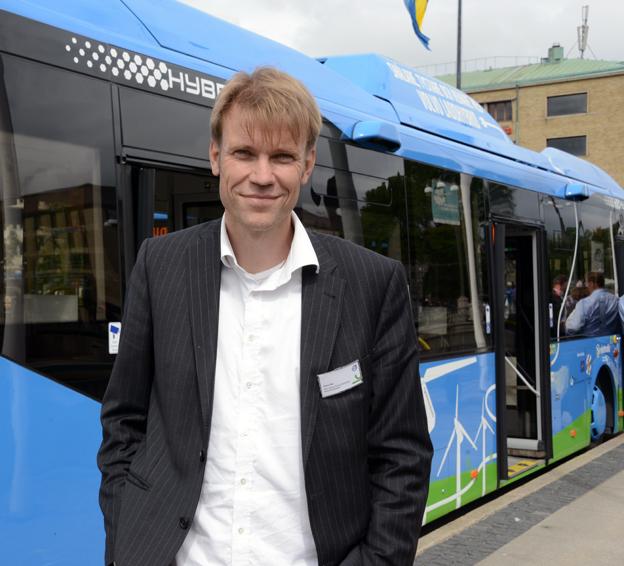 Claes Pihl, Volvo: Nu arbetar vi med att utveckla ett incidentvarningssystem för stadstrafik. Foto: Ulo Maasing.