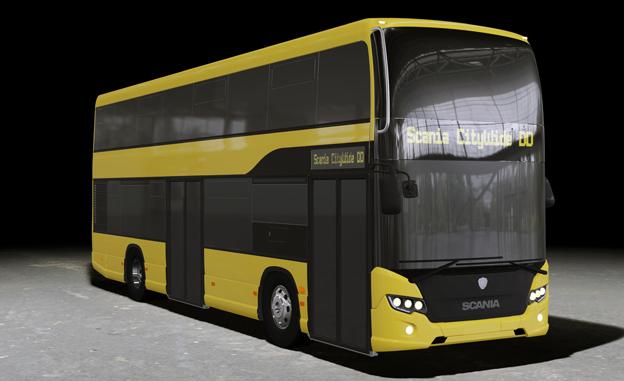 Scania har fått en beställning på en dubbeldäckad testbuss till lokaltrafiken i Berlin. Bild: Scania.