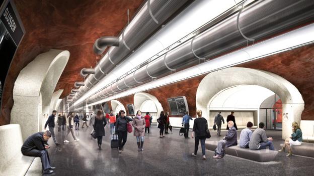 Den nya bussterminalen i Katarinaberget i Stockholm kommer att kosta 1,43 miljarder att bygga, räknat i dagens penningvärde.