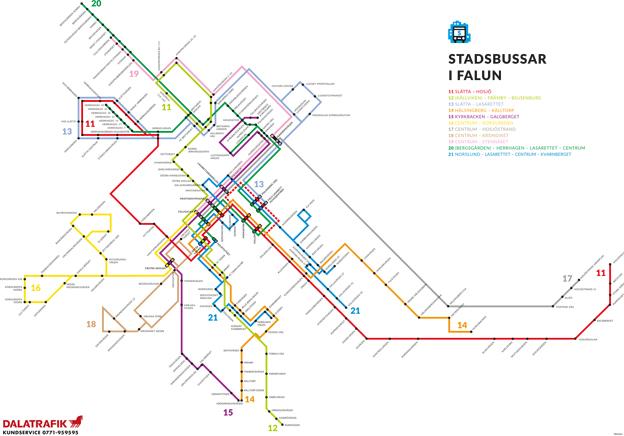 Faluns nya busslinjer. Nu har Dalatrafik presenterat hela den nya busstrafik som Dalarna får den 17 augusti.