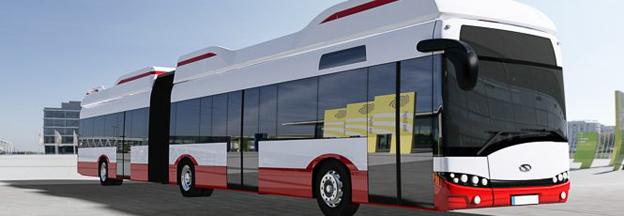 Hamburg ska testa två batteridrivna, 18,75 meters ledbussar från Solaris som ska få räckvidden utökad med hjälp av bränsleceller. Bild: Hochbahn.