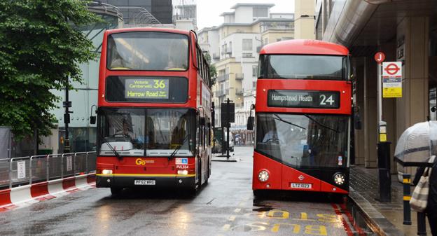 Nu är det slut med kontanter på Londons röda bussar. Foto: Ulo MAasing.