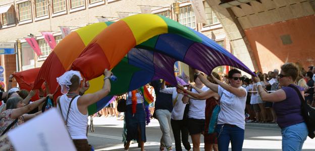 Nobina satsar på Stockholm Pride. Foto: Ulo Maasing.