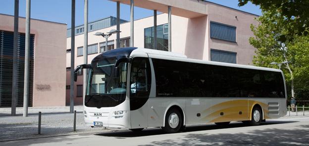 Den tyska marknaden ökar mest när det gäller nyregistrerade bussar i EU. Foto: MAN.