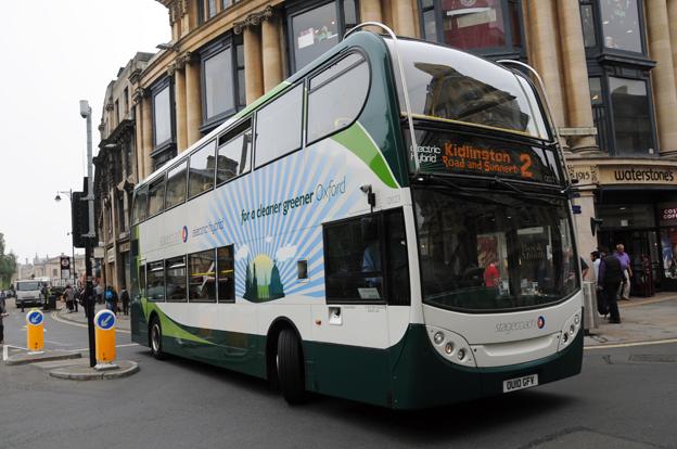 En hybridbuss från Stagecoach i Oxford. Foto: Ulo Maasing.