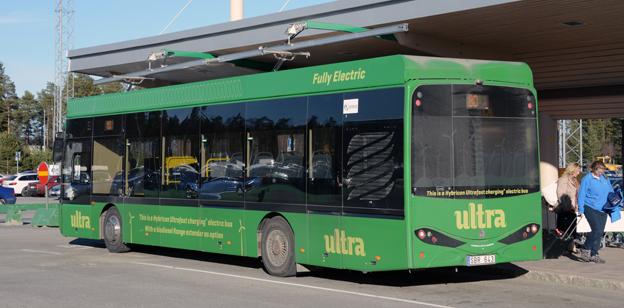 När Umeå kommunföretag i våras beställde ytterligare åtta elbussar drog man av momsen för tidigt. Foto: Ulo Maasing.