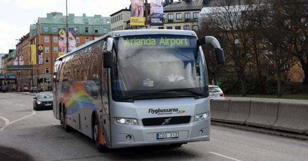 Flygbussarna ingår i Veolia Transport Sverige. Foto: Ulo Maasing.