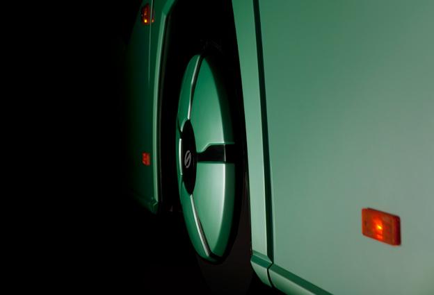 Solaris är hemlighetsfulla när det gäller den nya generationen Urbino stadsbussar som man lanserar senare i år. Endast detaljbilder har släppts. Foto: Solaris.