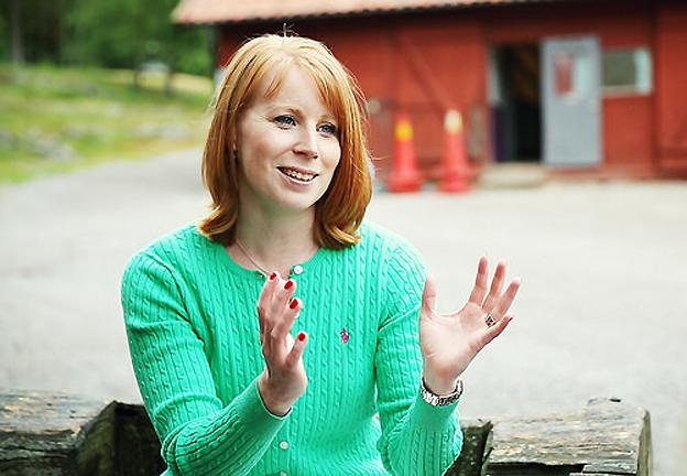 Centerns partiledare Annie Lööf lovar att Sverige ska få världens grönaste städer. Foto: Centerbilder.
