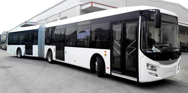 Tyska Eurabus lanserar senare i år en 18-meters, batteridriven ledbuss. Foto: Eurabus.