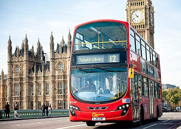 Brittiska transportjätten Go-Ahead har testat svänghjulsteknik i London. Nu ska man satsa på 500 svänghjulsdrivna bussar under två år. Foto: Go-Ahead Group.