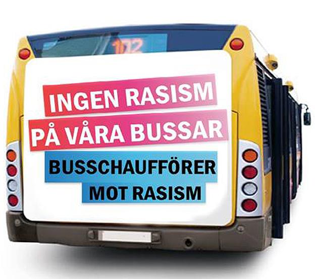 Bild: Busschaufförer mot rasism.