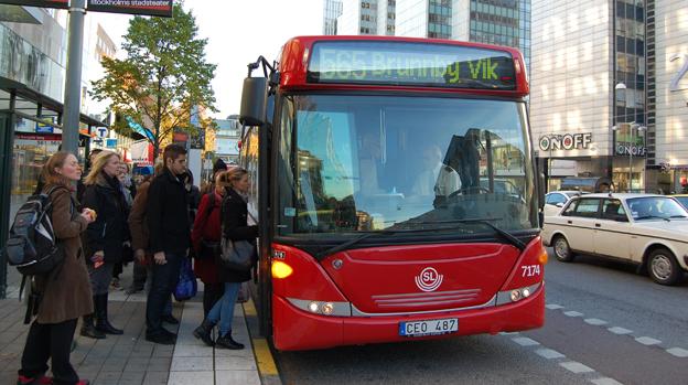 En av Arrivas bussar i SL-trafiken. Foto: Arriva.