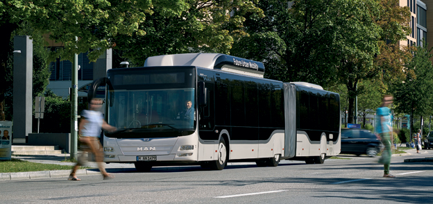 """Bus of the Year 2015″, är MAN Lion's City GL CNG. Foto: MAN."