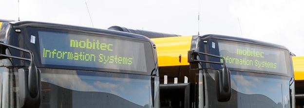 Mobitec är välkänt för sina destinationsskyltar för bussar. Foto: Ulo Maasing.