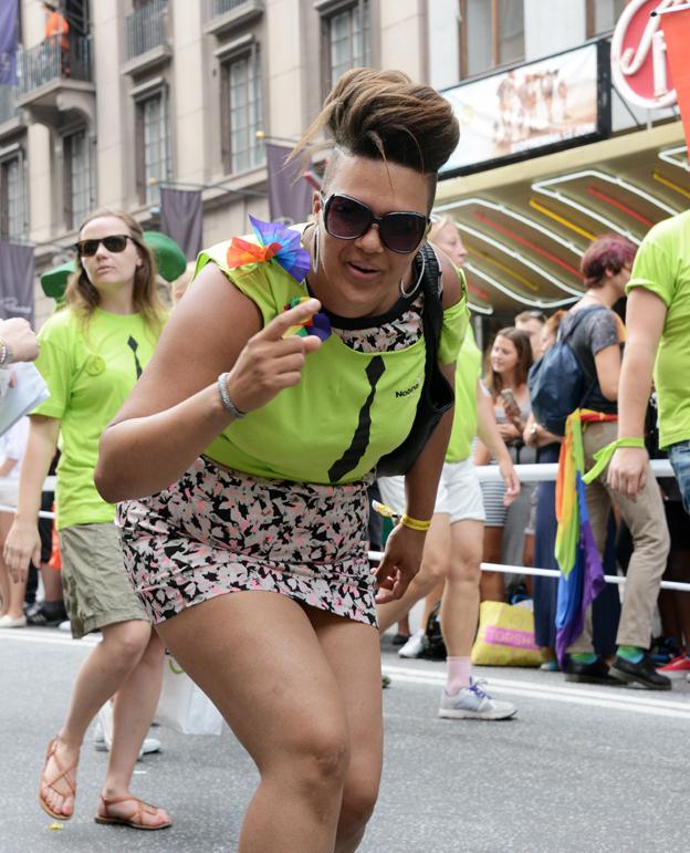 Nobinaiter i Prideparaden.