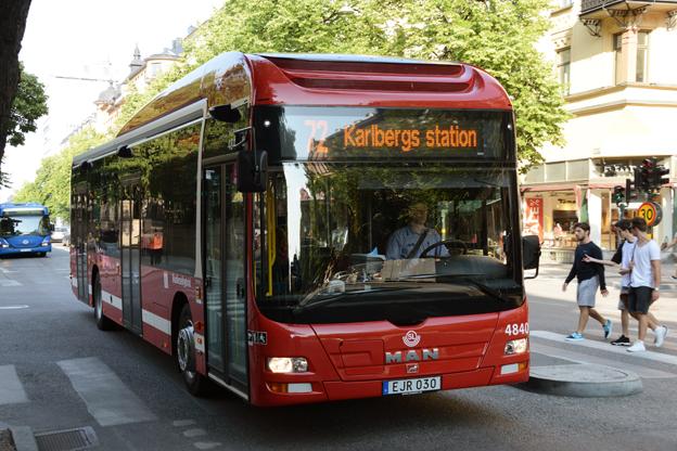 MAN toppar registreringsstatistiken för juli. Det är Keolis stororder på MAN-bussar till Stockholms innerstad som nu får genomslag. I ordern ingår ett stort antal Lion´s City Hybrid. Foto: Ulo Maasing.