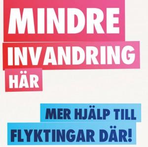 En av de stoppade affischerna för Sverigedemokraterna. Ta debatten istället för att lägga skyddsstopp, manar skyddsombudet Daniel Hermansson i Östergötland.