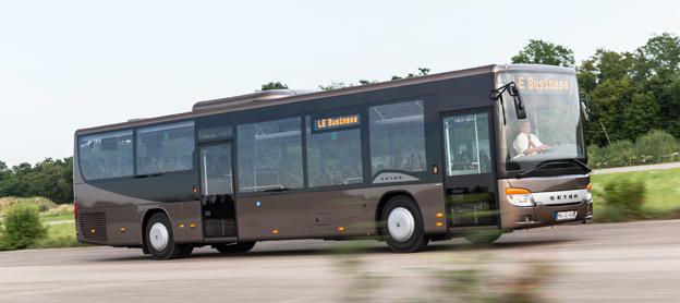 På IAA-mässan i slutet av september premiärvisar Setra lågentrébussen MultiClass LE business. Foto: Daimler Buses.