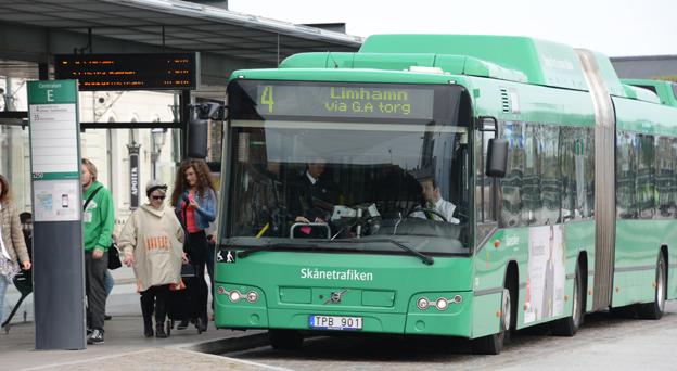 Skånetrafiken stoppar SD-reklam på stadsbussar. Arkivbild: Ulo Maasing.