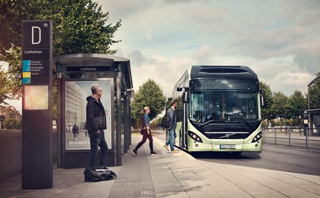 Volvo lanserar Volvo 7900 Electric Hybrid. Bild: Volvo Bussar.