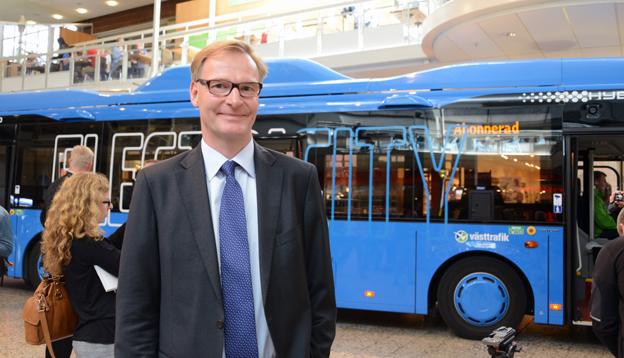 Volvochefen Olof Persson leder FN-panel om transportlösningar. Foto: Ulo Maasing.