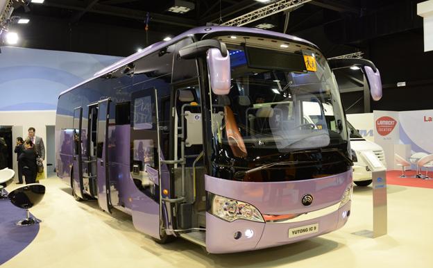 Yutong kommer bland annat att visa sin 9-meters intercitybuss på Persontrafik. Bland annat siktar man in sig på skolbussmarknaden. Foto: Ulo Maasing.