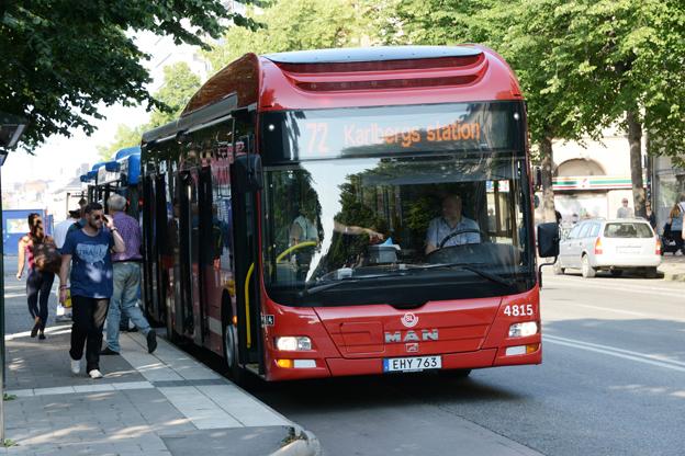 Idag har ungefär hälten av bussarna i SL-trafik AC. Foto: Ulo Maasing.