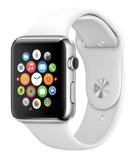 Nu kommer de smarta klockorna med stormsteg och öppnar helt nya möjligheter för information till kollektivresenärer. På nyåret släpper Apple sin Apple Watch. Foto: Apple.