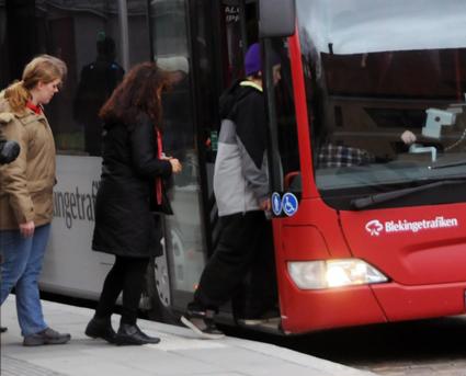 Den 14 december upphör kontanthanteringen på Bleingetrafikens bussar. Foto: Ulo MAasing.