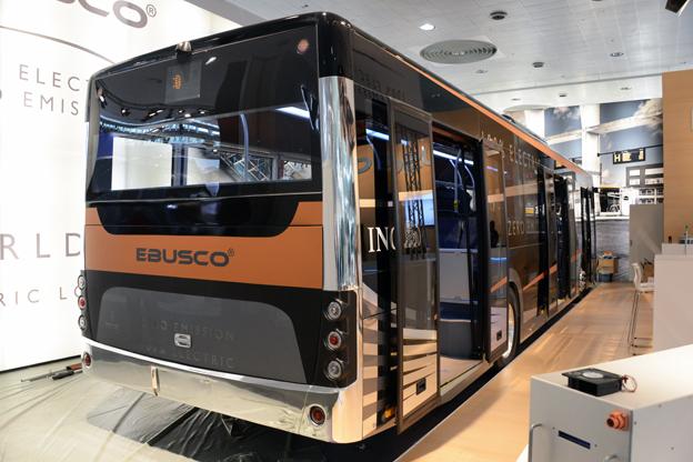 Holländska Ebusco har världspremiär på sin batteribuss Ebusco 2.0. På initiativ av Energimyndigheten ska bussen senare i höst på en omfattande Sverigeturné. Foto: Ulo Maasing.