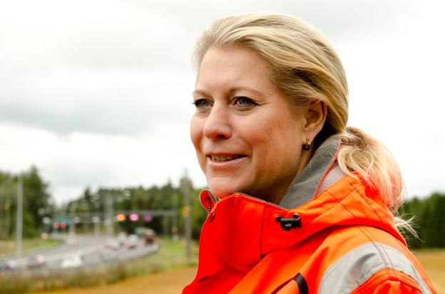 Infrastrukturminister Catharina Elmsäter-Svärd(M). Foto: Andia Ghafouri.