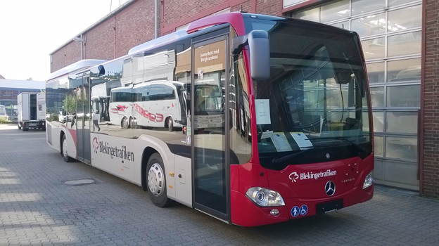 Mrecedes-Benz toppar statistiken över nyregistrerade bussar i augusti, främst genom en stor order från Bergkvarabuss och bussar till Blekinge.
