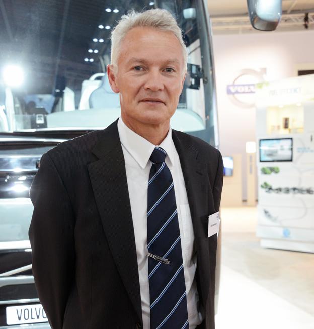Peter Danielsson, chef för säkerhet vid Volvo Bussar: Det viktigaste är att utveckla system som stödjer föraren. Foto: Ulo Maasing.