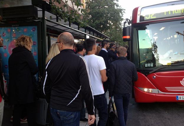 Kostnaderna för kollektivtrafiken i Storstockholm ökar dubbelt så snabbt som resandet. Foto: Ulo Maasing.