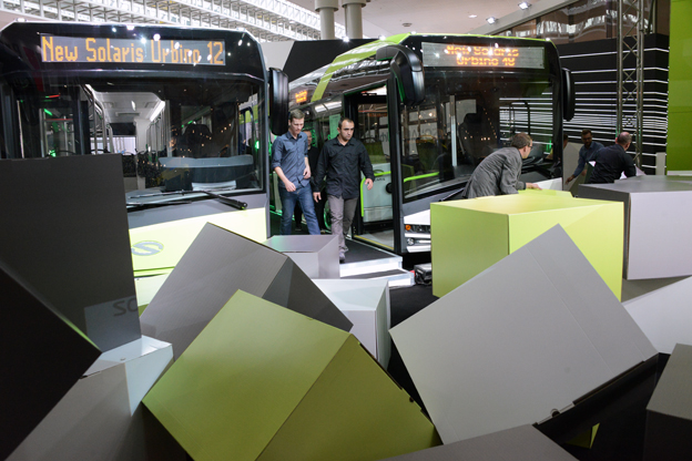 När muren rasade på IAA trädde två nya Solaris Urbino fram. Foto: Ulo Maasing.