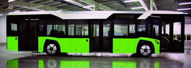 Nya Solaris Urbino ser betydligt tuffare ut än föregångaren. Foto: Solaris.