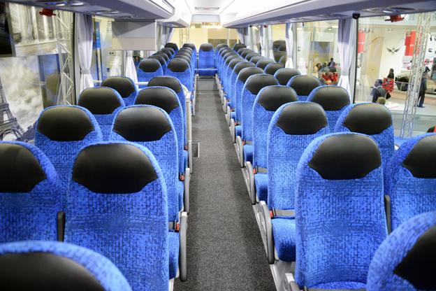 Inrfedningen på utställningsbussarna är av typen enklare turist- och beställningstrafik. Foto: Ulo Maasing.