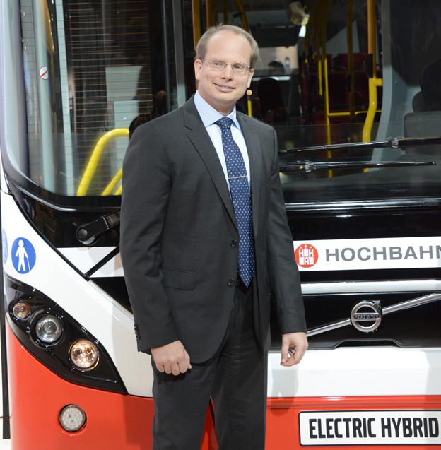 Volvo Bussars vd Håkan Agnevall: Eldrivna fordon kan förändra förutsättningarna för stadsplanering i grunden. Foto: Ulo Maasing.