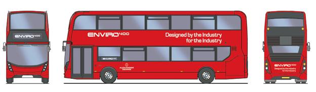 ADL Enviro 400 blir den kaross som Scanias dubbeldäckade gasbuss kommer att ha.