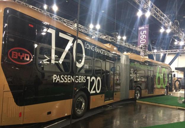 Kinesiska BYD lanserar nu en helt ny, batteridriven elbuss. Foto: BYD.