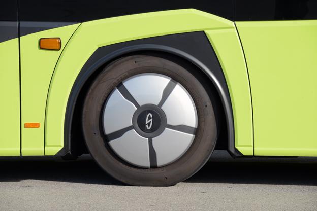 Designen på hjulhusen är hämtad från linjevagnen Interurbino.
