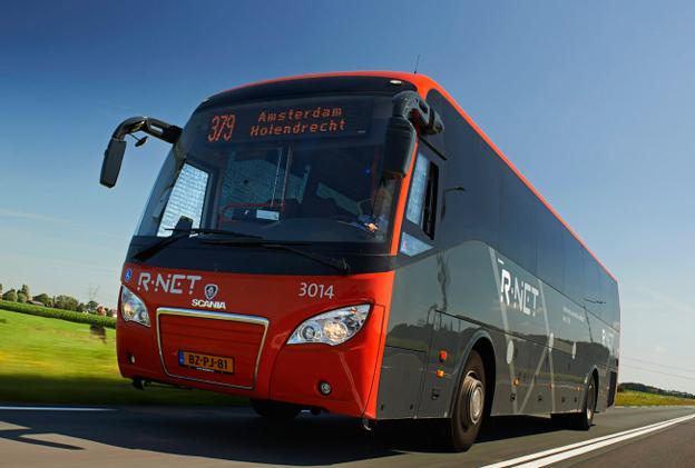 Scania Higer A30. Den här bussen går i trafik i Nederländerna. Foto: Göran Wink.