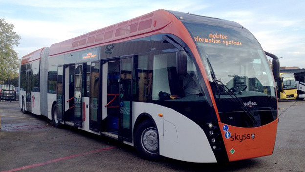 I november får Bergen sin första linje som trafikeras av superbussar à la MalmöExpressen. Foto: Hordaland Fylkeskommune.