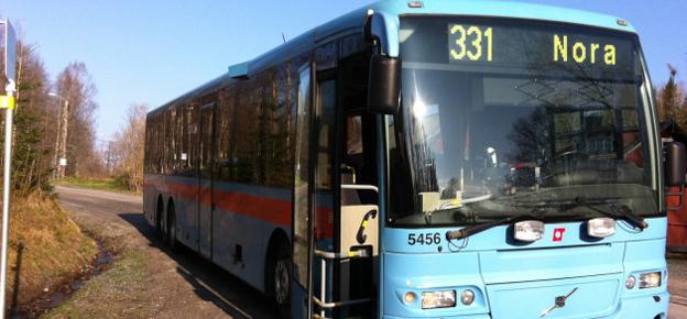 Nobina har vunnit upphandlingen av busstrafiken i Nora och Hällefors. Foto: Nobina.