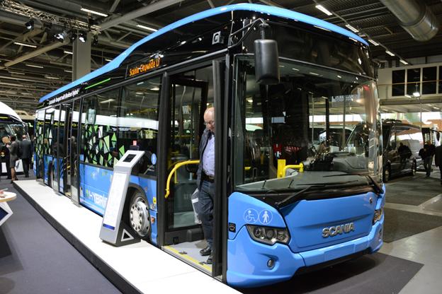 På Persontrafik hade Scania också svensk premiär på stadsbussen Citywide LE Hybrid. Foto: Ulo Maasing.
