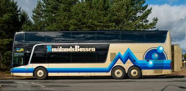 Smålandsbussen får samma ägare som en rad andra bussbolag i Småland. Foto: Smålandsbussen.
